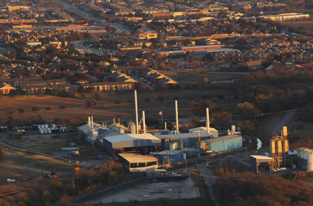 Exide Technologies was photographed from a helicopter on Nov. 28, 2012, just before it ceased operations as part of a deal with the city of Frisco. The buildings have since been dismantled. Cleanup at the site continues.(File photo)