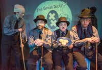 """Leslie Patrick, Chad Cline, Steph Garrett and Robert Shores perform a scene from """"The Great Dictator"""" during the Festival of Independent Theatres at Bath House Cultural Center in Dallas on July 21, 2017 (Robert W. Hart/Special Contributor)."""