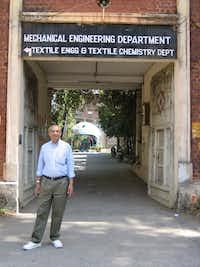 Nagar visiting his alma mater, the Maharaja Sayajirao University of Baroda, in India.(Ushma Upadhyay)