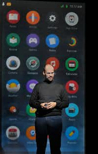 Edward Parks as Steve Jobs in the Santa Fe Opera's <i>The (R)evloution of Steve Jobs</i>.(Ken Howard)