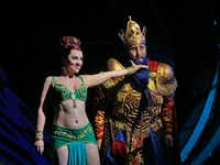 Venera Gimadieva (Queen Of Shemakha) and Tim Mix (King Dodon) in the Santa Fe Opera's<i> The Golden Cockerel.</i>(Ken Howard)