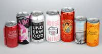 Here's a selection of canned wines.(Nathan Hunsinger/Staff Photographer)