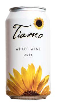 Tiamo Grillo white wine in cans.(Winesellers Ltd.)