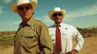 Jeff Bridges (left) plays Marcus Hamilton and Gil Birmingham plays Alberto Parker in the film <i>Hell or High Water.</i>(CBS Films)