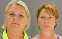 Amy Witherite, left, and Barbara Witherite were arrested on misdemeanor assault charges. (Dallas County jail )