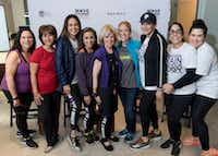Amy Weinreb (from left), Anna de Haro, Moll Anderson, Sonia Azad, Dr. Sandra Chapman, Katherine Nashatker, JanMiller Rich, Sue Gragg and Nena Oshman attended the Move for Minds event in June.(Bruno/)