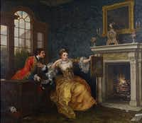 <i>Casanova: The Seduction of Europe</i>, at the Kimbell Art Museum William Hogarth (English, 1697–1764) The Lady's Last Stake, 1759 Oil on canvas. Collection Albright-Knox Art Gallery, Buffalo, NewYork; Gift of Seymour H. Knox, Jr., 1945.(Tom Loonan)