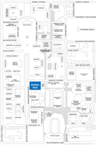 """<p>SMU revised its policy that stated that displays could only be placed at M<span style=""""font-size: 1em; background-color: transparent;"""">orrison-McGinnis Park, colored blue in the above map.</span></p>"""