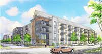 Developer StreetLights Residential and Stonelake Capital Partners are planning hundreds of apartments, retail and homes on a 25-acre old industrial property west of downtown Dallas. The tract is on Singleton Boulevard just west of Sylvan Avenue. (StreetLights Residential)