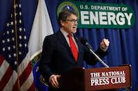 """Energy Secretary Rick Perry said the reserve is less needed if you """"consider pipelines to be a form of storage.""""(Jacquelyn Martin/AP)"""