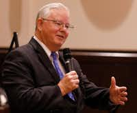"""Texas Rep. Joe Barton, R-Arlington, says there should be some reserve but maybe """"not the amount we have in it now.""""(David Woo/Staff Photographer)"""