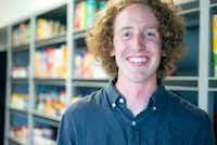 Jacob Moses is the owner of Blue Bag Grocery, a new grocery store that will provide locals near the square with a variety of groceries such as produce, coffee and other necessities. (Jake King/Denton Record-Chronicle)