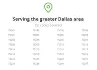These are the Zip Codes that Instacart serves in Dallas, according to its website.