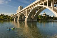 Saskatoon is a handsome city on the shores of the South Saskatchewan River. (Tourism Saskatoon/Courtesy)