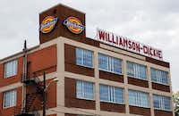 The Williamson-Dickie building at 509 W Vickery Blvd in Fort Worth. Williamson-Dickie was sold to VF Corp on Monday for $820 million.(Ashley Landis/Staff Photographer)