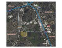 The land developer Mike Rader purchased is on Pleasant Run Road west of Interstate 45.(Colliers International)