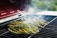 Burning rosemary on the grill releases its mosquito-repelling oils.(Tailyr Irvine/Staff Photographer)