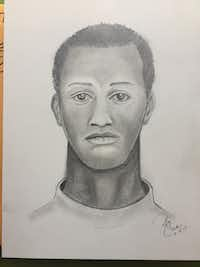 A sketch of the suspect who attacked and sexually assaulted a woman outside a Fort Worth club(Fort Worth Police Department)