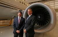 President and CEO Ched Bart (right) and Vice President and General Manager Scott Bohnenkamp head Hillwood Airways.(Jae S. Lee/Staff Photographer)