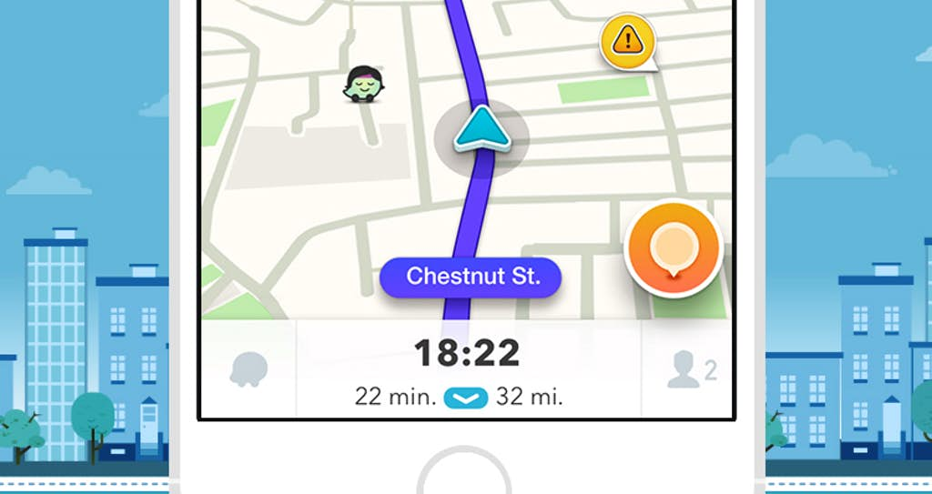 Waze app can help you find the best route to wherever you're going