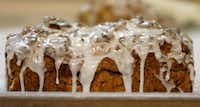 Freshly baked apple cinnamon walnut bread with icing(Jae S. Lee/Staff Photographer)
