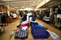 Interior of the Tommy Bahama restaurant and store location at Legacy West in Plano.(Rose Baca/Staff Photographer)
