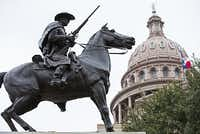 The Capitol i Austin is home to some of the state's largest memorials to the Confederacy, including the Terry's Texas Rangers monument. A committee hearing is set on the issue before the Legislature meets in January.(2015 File Photo/Ashley Landis)