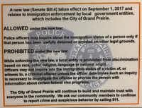 Grand Prairie laminated new instructions on how to implement Senate Bill 4. Though several cities, individuals and nonprofits have asked for an injunction halting the law's implementation, Grand Prairie officials want to be prepared.(Diane Solis/Staff)