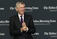 Jim Moroney, publisher and chief executive officer of A.H. Belo, spoke during the Journalist of the Year Awards Luncheon at the Hyatt Regency Dallas in March of last year. (David Woo/Staff Photographer)