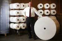 Mike Bowen, executive vice president of Prestige Ameritech, at the company's manufacturing plant in North Richland Hills. (Rose Baca/The Dallas Morning News)