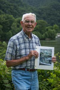 Bobby Kirby was nominated by his neighbors in  Kanawha Falls, W.Va. to be their water system treasurer. The job sometimes entails performing maintenance on the Civil War-era system, which sits in a wooded area on a mountain, about a half mile above the town and only accessible by a footpath.(Rachel Konieczny/News21)