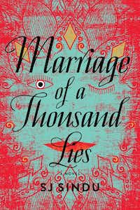 "<p><em style=""font-size: 1em; background-color: transparent;"">Marriage of a Thousand Lies </em><span style=""font-size: 1em; background-color: transparent;"">by SJ Sindu</span></p><p></p>(Soho Press)"