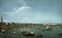 Canaletto (Giovanni Antonio Canal) <i>Bacino di San Marco, Venice</i>, circa 1738 (Museum of Fine Arts, Boston)