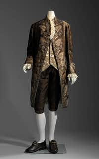 """Casanova: The Seduction of Europe"" at the Kimbell Art Museum includes a suite of silk, velvet and embroidered with gilt silver wire, sequins, and bits of glass (Museum of Fine Arts, Boston)"