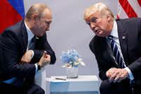 President Donald Trump meets with Russian President Vladimir Putin at the G20 Summit in Germany in July.(Evan Vucci/AP)