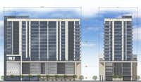 The 17-story Star House will have about 160 luxury apartments.(O'Brien Architects)