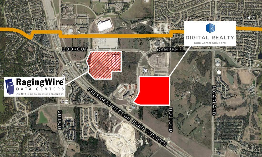 Digital Realty's new data center in Garland will be in the same are where RagingWire Data Centers just opened its first phase.(City of Garland)