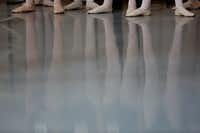 Dancers in a ballet class during the first day of school.(Andy Jacobsohn/Staff Photographer)