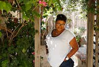 Attica Locke poses for a portrait at her sister's home in Los Angeles. Locke's new novel,  <i>Bluebird</i>, <i>Bluebird, </i>is about a black Texas Ranger working a murder case in a small East Texas town.  (Vernon Bryant/Staff Photographer)