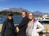A sunny late summer day in Queenstown with Kris, Andy and Audra.(Joe Nick Patoski/Special Contributor)