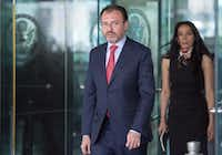 Mexican Foreign Secretary Luis Videgaray Caso met with U.S. Secretary of State Rex Tillerson on Wednesday. The U.S. is in the midst of renegotiating the North American Free Trade Agreement with Mexico and Canada.(Paul J. Richards/Agence France-Presse)