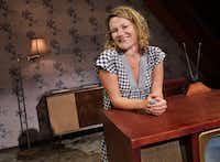 Playwright Boo Killebrew  on the set of her play  <i>Miller, Mississippi </i> at Wyly Theatre in Dallas(Jason Janik/Special Contributor)