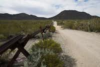 Vehicle barriers line a section of the U.S.-Mexico border that runs through Arizona.(Nick Cote/The New York Times)