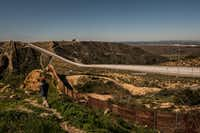 Multiple walls run along the border between Tijuana, Mexico, and the United States.(Bryan Denton/The New York Times)