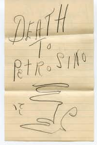 The first page of a death threat sent to Joseph Petrosino.  From <i>The Black Hand</i>, by Stephan Talty.(Petrosino Family Archive)