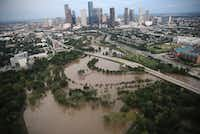 Flooding continues to be shown near downtown Houston.(Win McNamee/Getty Images)