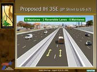The proposed expansion of the lanes near the Dallas Zoo.(TxDOT)