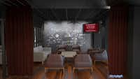 A conceptual computer rendering  of a meeting room in Phil Romano's Network Bar in Trinity Groves that is slated to open in October.(Network Bar)