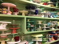 New and vintage cake stands for sale at Pryde's Kitchen & Necessities in Westport. (Sheryl Jean/Special Contributor)