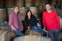 Pascal Brooks, Janie Brooks Heuck and winemaker Chris Williams of Brooks Wine in Oregon (Andrea Johnson)